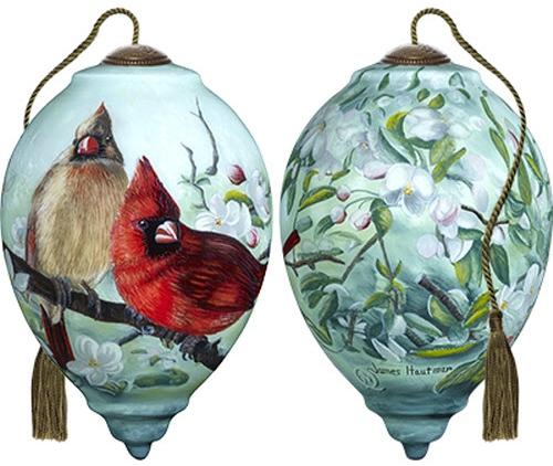 Ne'Qwa Art 7171166 Orchard Cardinals Ornament