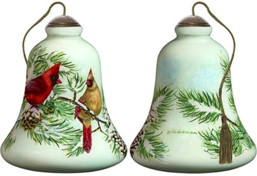 Ne'Qwa Art 7181105 Winter Cardinals Ornament