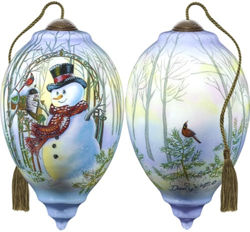 Ne'Qwa Art 7181112 Christmas Greetings Snowman Ornament