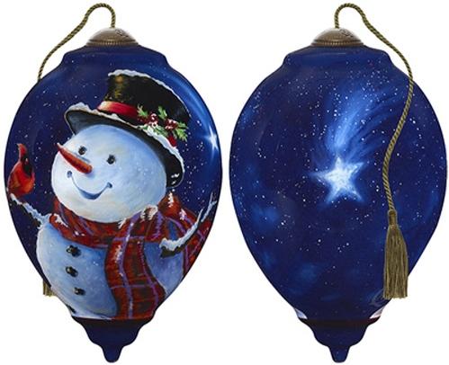Ne'Qwa Art 7181121 Magic of Christmas Snowman Ornament