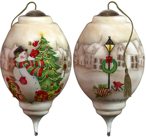 Ne'Qwa Art 7181131 I'll Be Home For Christmas Snowman Ornament
