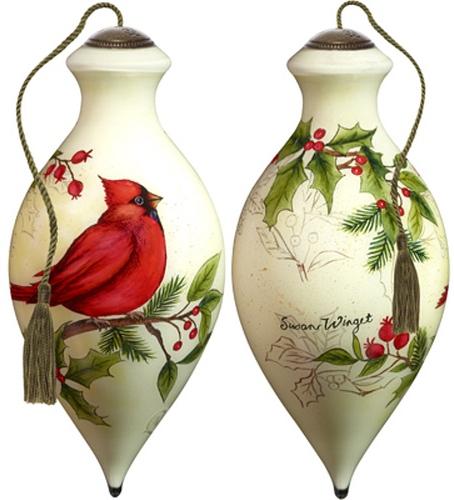 Ne'Qwa Art 7181133 Cardinal Holly Ornament