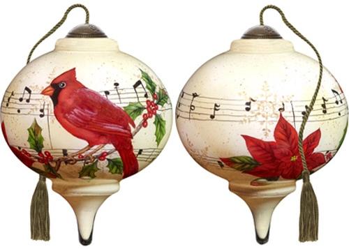 Ne'Qwa Art 7181148 Caroling Cardinal Ornament