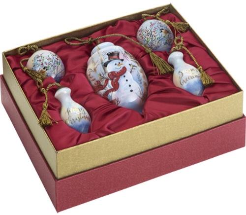 Ne'Qwa Art 7181150 Birch Forest Snowman Gift Set