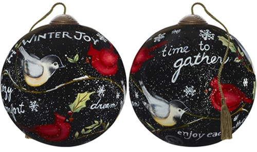 Ne'Qwa Art 7181154 Winter's Cardinals Ornament