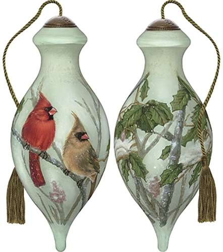 Ne'Qwa Art 7191137 Cardinals In Sumac Ornament
