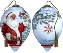 Ne'Qwa Art 7171123 Santa's Feathered Friend Ornament