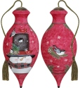 Ne'Qwa Art 7171153 Home Is Where You Hang Your Hat Snowman Ornament
