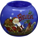 Ne'Qwa Art 7171202 Believe Santa Votive Holder