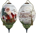 Ne'Qwa Art 7181110 Winter Birch Santa Ornament