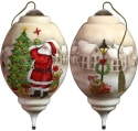 Ne'Qwa Art 7181128 I'll Be Home For Christmas Santa Ornament
