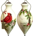 Ne'Qwa Art 7181133 Cardinal Holly Ornament