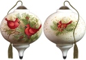 Ne'Qwa Art 7181134 Woodland Cardinals Ornament