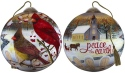Ne'Qwa Art 7181155 White Crimson Morning Ornament