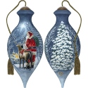 Ne'Qwa Art 7191152 Starry Night Santa Ornament