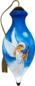 Ne'Qwa Art 7211103 Angel Above Clouds With Mandolin Ornament