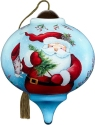 Ne'Qwa Art 7211112 Whimsical Santa With Tree and Stocking Ornament