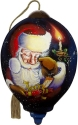Ne'Qwa Art 7211113 Santa With Gift In Candlelight Ornament