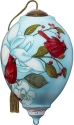 Ne'Qwa Art 7211122 Two Cardinals On White Flower Ornament