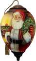 Ne'Qwa Art 7211126 Traditional Santa With Wreath Ornament