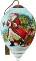 Ne'Qwa Art 7211128 Santa Pulling Sled Ornament