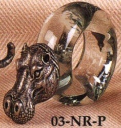 Special Sale PNRHippo Ngwenya NGW NG-03-NR-P Hippo Pewter Napkin Ring