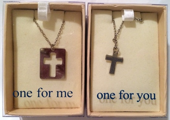 Special Sale 18707 One For Me One For You 18707 Cross Necklaces Set of 2