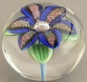 Orient and Flume 2426B Lily Dichroic Blue Paperweight