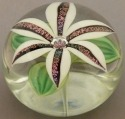 Orient and Flume 2426W Lily Dichroic White Paperweight