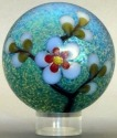 Orient and Flume 2497 Almond Blossom Iridescent Paperweight