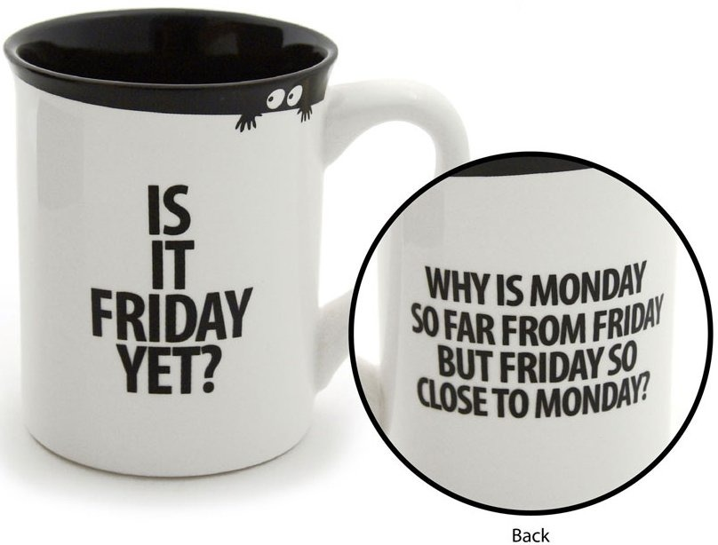 Special Sale 4035021 Our Name is Mud 4035021 Is It Friday Yet? Mug