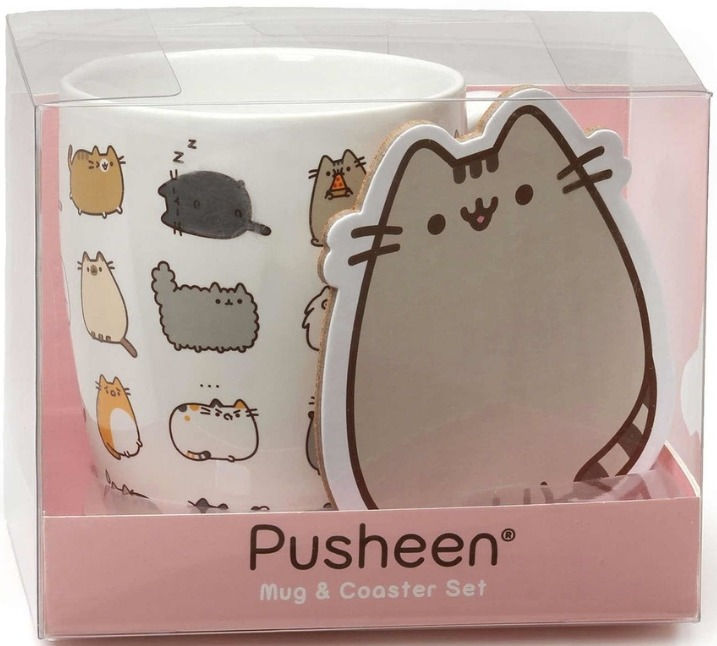 Our Name is Mud 6000280N Pusheen Mug Coaster Kit