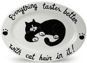 Our Name is Mud 16194 Cat Hair Oval Platter