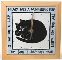 Our Name is Mud 16220 Cat Wall Clock