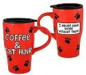 Our Name is Mud 16447 Coffee & Cat Hair Travel Mug