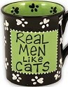 Our Name is Mud 4015550 Real Men Like Cats Mug