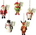 Our Name is Mud 4017788 Picket Ornament Set