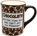 Special Sale 4020693 Our Name is Mud 4020693 Chocolate Pregnant Mug