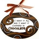 Our Name is Mud 4020697 Chocolate Oval Plaque