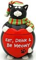 Our Name is Mud 4024386 Christmas Cat Jars