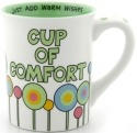 Our Name is Mud 4028058 Cup of Comfort Just Add Warm Wishes Mug