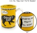 Our Name is Mud 4041712 Crazy Cat Mug