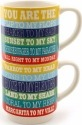 Our Name is Mud 6000145 Margaritaville Songs Mugs Set of 2