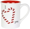 Our Name Is Mud 6004642 Xmas Glitter Candy Cane Mug