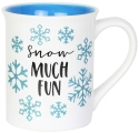 Our Name Is Mud 6004644 Xmas Glittery Snowflake Mug