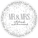 Our Name Is Mud 6005721 Mr and Mrs Cake Platter