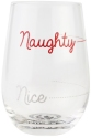 Our Name Is Mud 6006754 Naughty and Nice Wine Glass