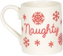 Our Name Is Mud 6006757 Naughty Nice Christmas Mug Set
