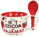 Our Name Is Mud 6006758 Christmas Cocoa Spoon and Mug