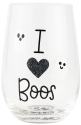 Our Name Is Mud 6006765 I Heart Boos Wine Glass